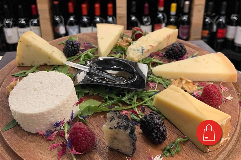 Formaggio, pane e vino