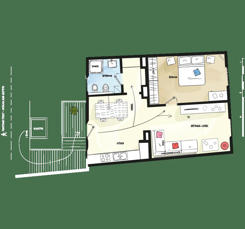 Case vacanza Valle d'Aosta - Pianta DeTillier53 - Alp Apartments