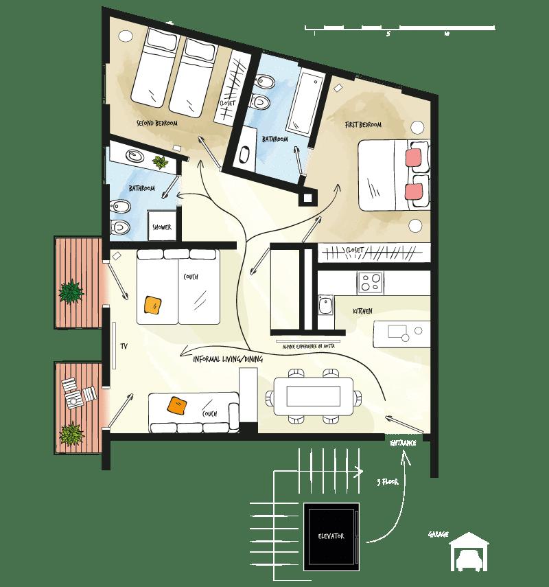 Case vacanza Valle d'Aosta - Pianta Stevenin11 - Alp Apartments